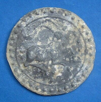 18th circa.--SOUTHEAST ASIA-ANCIENT COIN---RIGHT-FACING ANTELOPE--60 mm.