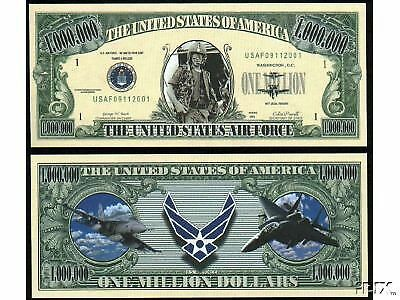 Air Force USAF Military Novelty Million Dollar Bill Funny Money Gag Gift Note #4
