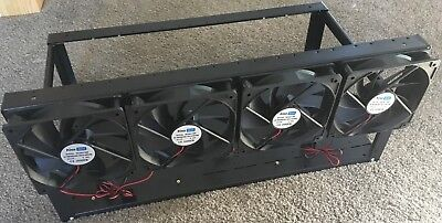 Crypto Mining rig frame with 4 x 12 CM FAN for 6 to 8 graphic cards [F97]