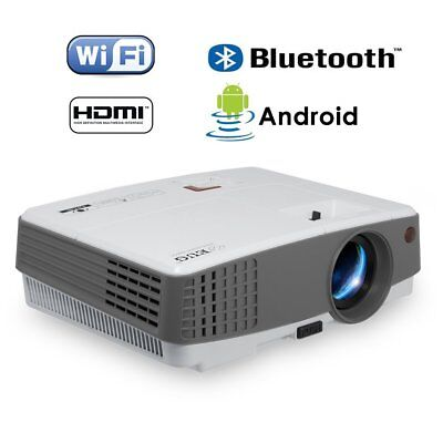 HD Portable Android Smart Projector 3600lm Bluetooth Wifi 1080p Home Theater SA
