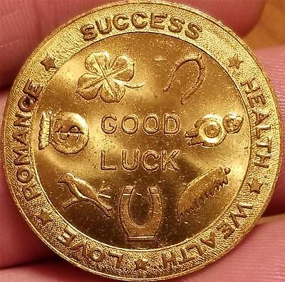 Beer Advertising Token Medal GOOD LUCK CLIPPER ALE HARVARD BREWING CO LOWELL, MA