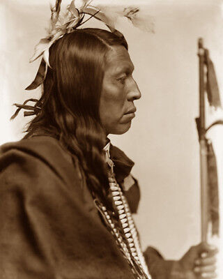 Flying Hawk 1898 Sioux Native American Sepia Photo