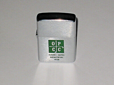 1958 Zippo Orchard Park Country Club HARRY YATES MEMORIAL Golfing Un-fired NOS