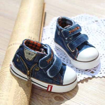Kids Fashion Baby Boys Girls Shoes Denim Casual Running Trainer Sports Shoes