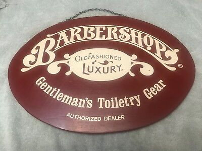 Vintage Barbershop Old Fashioned Luxury Authorized Dealer Wooden Sign