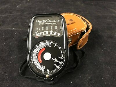 Weston Master II Universal Exposure Meter Model 735 W/ Leather Case MADE IN USA