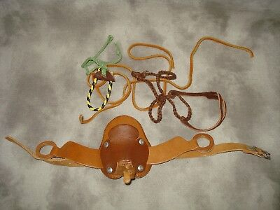Breyer Size Stablemate Leather Saddle And Misc.