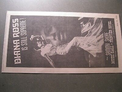 Old Ad May 15 1970 Diana Ross Supremes Frontier Hotel Music Hall Music Las Vegas
