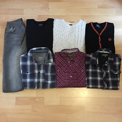 Boys TED BAKER FRED PERRY NEXT 10-11 Bundle Jumper Checked Shirt Jeans