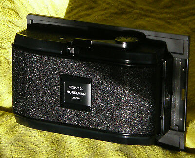 Used Horseman 612 Back! for 120 film on 4x5 Camera! GREAT SHAPE! w/BOX, INSTR.