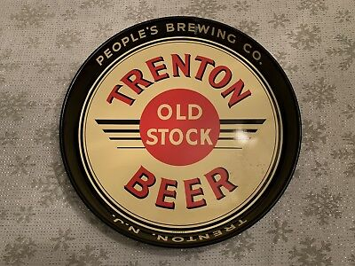 Vintage Trenton Old Stock Beer Tray PEOPLE'S BREWING Trenton New Jersey