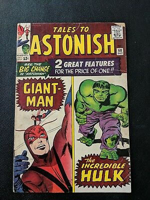 Tales To Astonish #60 Key Issue! Antman/Giant Man Hulk Begin Double Feature