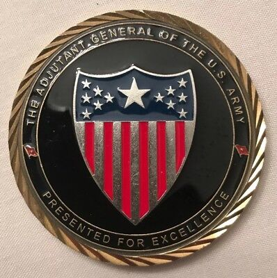 The Adjutant General Of The US Army Challenge Coin