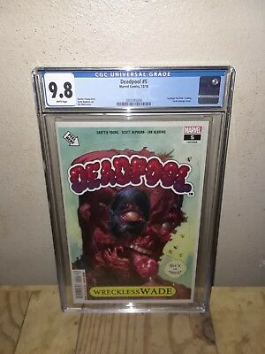 Deadpool #5 CGC 9.8 NM/Mint Garbage Pail Kids Homage Cover Young Hepburn