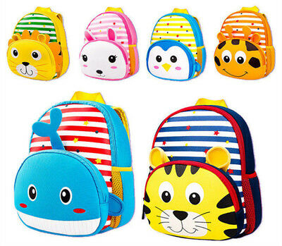 US Seller-Toddler Kids Children Boys Girl Cartoon Backpack Schoolbag Bag