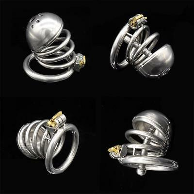 Health Care Professional Sale 304 Medical Grade Stainless Steel Spike Ring Chastity Device Cage Bondage Ua1128