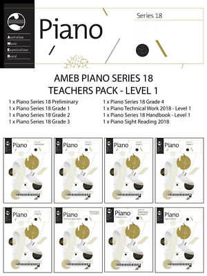 New AMEB Piano Series 18 Teachers Pack Level 1 - Book Package