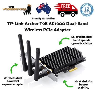 TP-Link Archer T9E Wireless-AC1900 PCIe Network Card w/ Dual Band 3 Times Faster