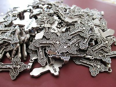 Lot Of 10 PCS German Silver Crosses, Pendant From Jerusalem Holy Land #W41