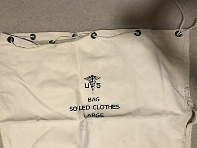 U.S Army Military Large LAUNDRY BAG Canvas Self Closing Ropeless NEW