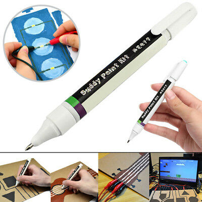 Conductive DIY Ink Pen Dry Fast Electronic Circuit Draw Instantly Tools Flowery