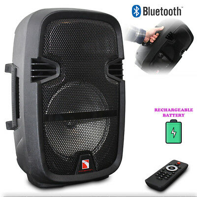 """Bluetooth Disco Light Speaker 8"""" 350W Rechargeable Battery Powered"""
