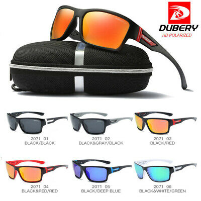 DUBERY Square Polarized Sunglasses Cycling Sport Driving Fishing Women/Men UV400