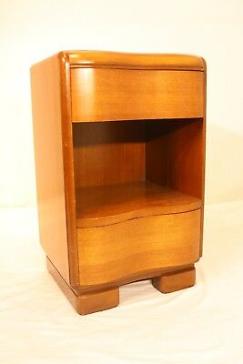 Vintage 1940 Art Deco/Mid Century Nightstand Walnut