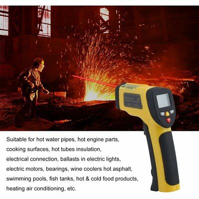 Digital Non-Contact Infrared IR Thermometer Temperature Laser Gun -50℃ to #TG D9