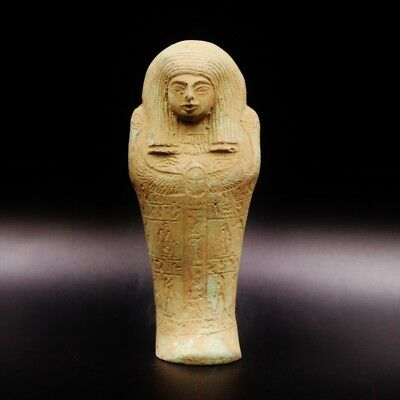 Fine Antique Egyptian Faience Ushabti (Shabti) Statue Figure..Great Details