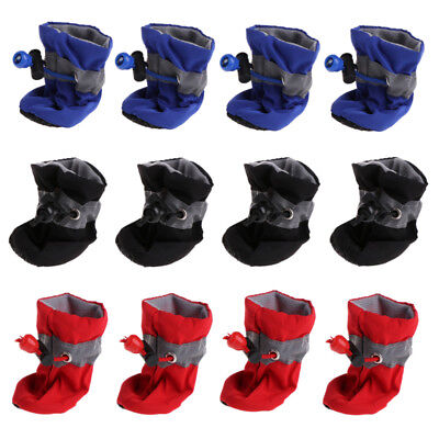 4 pcs Waterproof Pet Dog Shoes Anti-slip Rain For Small Cats Puppy Socks Booties