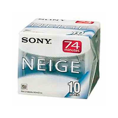 SONY Neige MiniDisk Recordable MD 74 Minutes Pack 10 New from Japan 10MDW74NEB