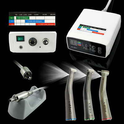 Dental Electric Micro Motor + 1:1/1:5/16:1 Fiber Optic Handpiece Contra Angle