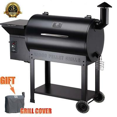 Wood Pellet BBQ Grill and Smoker w/ Digital Controls Outdoor Cooking+Free Cover