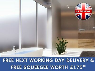 White Frost Privacy Frosted Window Film Opal Etch Tint Glass Vinyl+FREE SQUEEGEE