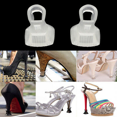 Clear Stiletto High Heel Protectors Covers Shoes Stoppers Petite Small / Medium