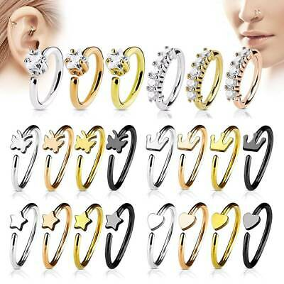 Nose Hoop Cartilage Ring Rook Tragus Daith Piercing 316l Surgical