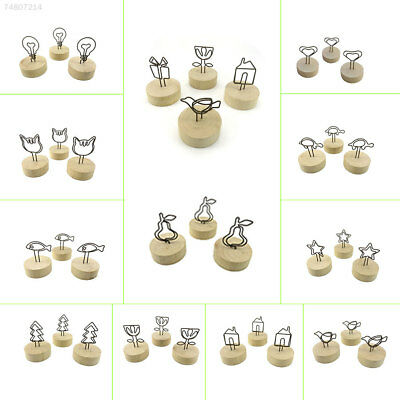 9782 Multi-Designed Wedding Place Picture Note Name Cards Holders Table Clip