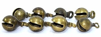 Lot Of 8 Old Decorative Brass Musical Hanging Collection Bells Well. G70-236 AU