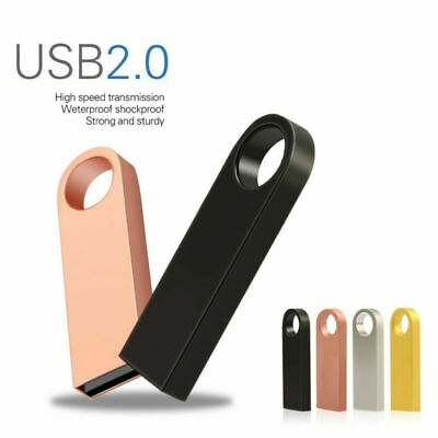 64GB Metal Pen Drive USB 2.0 Flash Memory Drive Waterproof Disk On Key 1MB-32GB