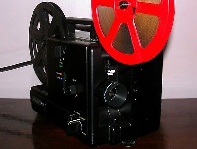 Eumig 614 D DUAL 8 Super 8 / Reg 8mm PROJECTOR Multi SPEED ~SERVICED~