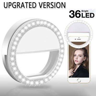 Tragbar LED Selfie Licht Ringleuchte Handy Tablet Universell Ringlicht Strahler