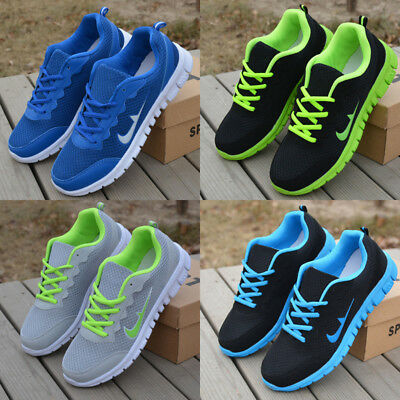Men Women Shoes Ladies Pumps Trainers Lace Up Mesh Sports Running Sneaker Casual
