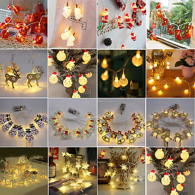 AU Multi Shape LED String Fairy Lights Battery Operated Wedding Party Decor Lamp