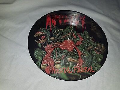 LP AUTOPSY * Mental Funeral* PIC-LP* 1992, ohne Hülle, Limited Edition