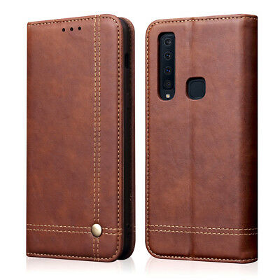 Luxury  Leather Magnetic Flip Cover Wallet Case For Samsung Galaxy A7 A9 J6 2018