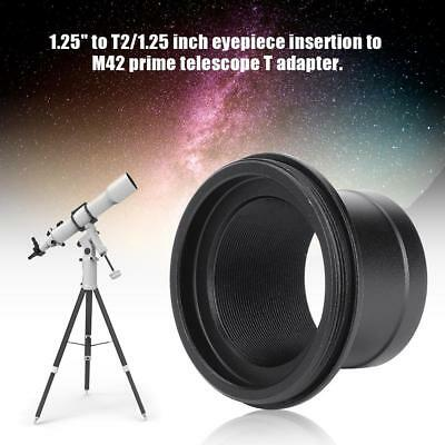 """1.25"""" Telescope T Adapter T2 Eyepiece Insertion to M42 Prime Mount Photography Z"""