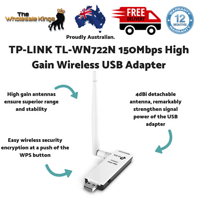 TP-LINK TL-WN722N 150Mbps High Gain Steel-and-Concrete Wireless USB Adapter