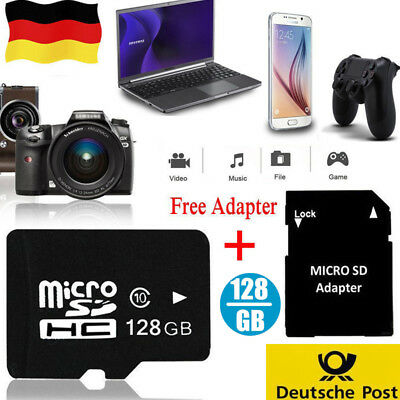 128GB Ultra Micro SD TF Karte Card Speicherkarte Class10 Flash + Adapte DE