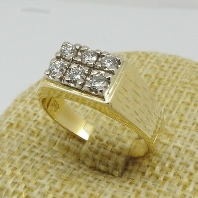 Mens Solid Handmade 18ct Gold And Diamond Ring With Valuation Cert.
